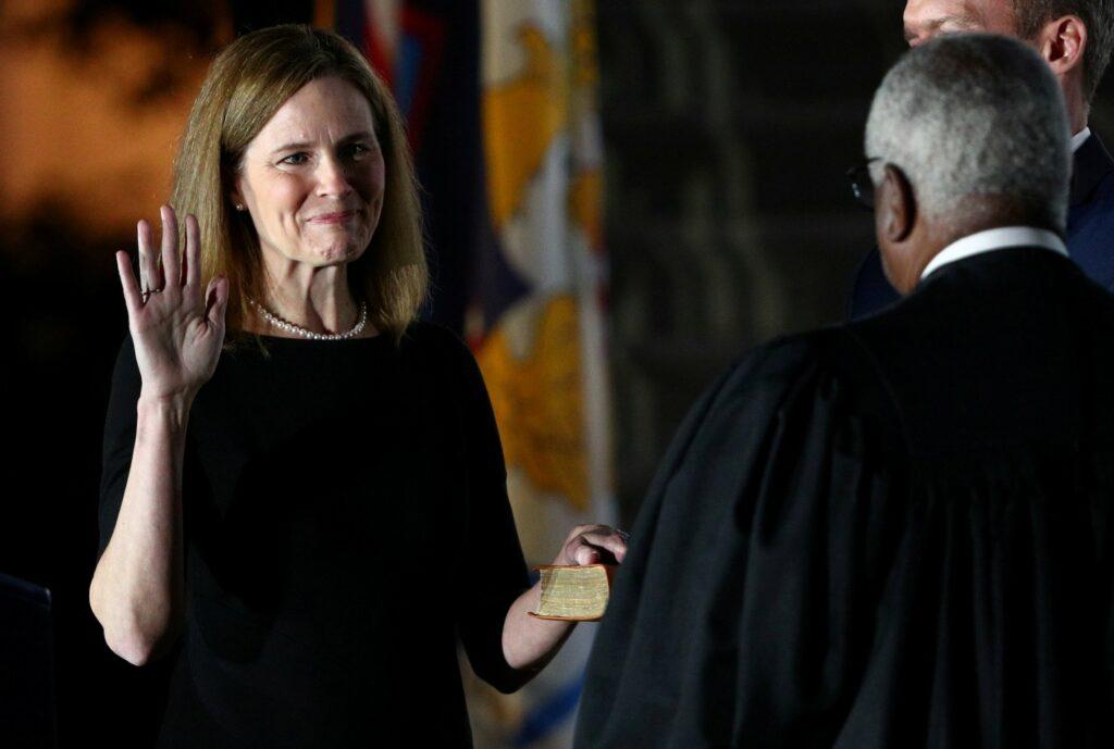 Barrett sixth Catholic justice  on current Supreme Court