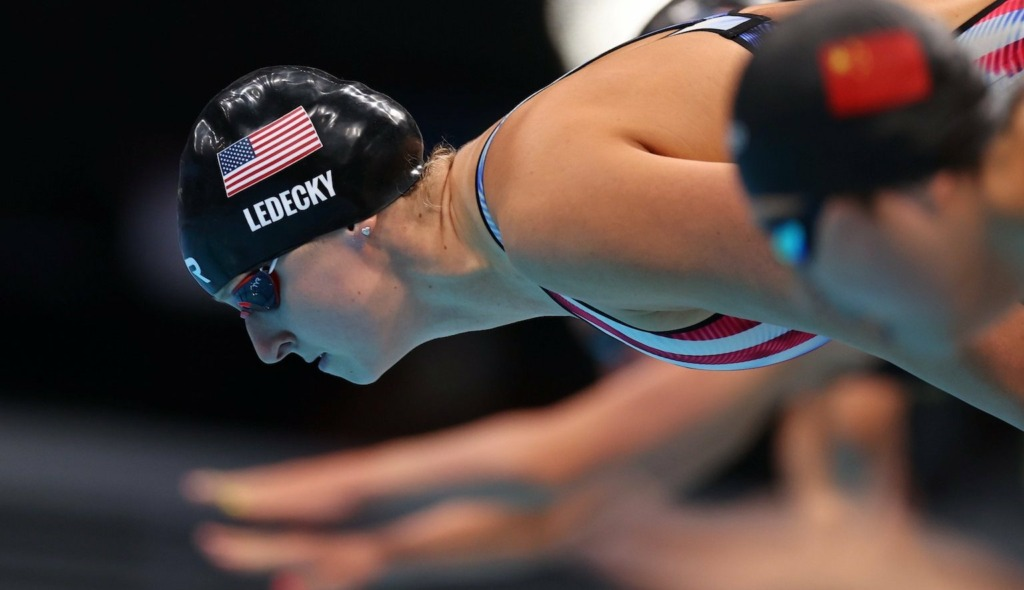 Ledecky gives shout-out to her  grandparents after winning gold